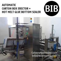 Cheap Automatic Hot Melt Glue Box Bottom Sealer Case Erecting Machine Carton Erector for sale