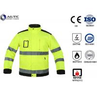 Cheap Reflective PPE Safety Wear Disposable Anti Wrinkle Adjustable Sleeve Zip Pockets for sale