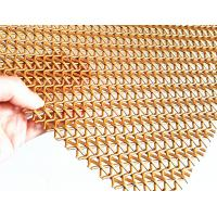 Cheap Crimped Wire Decorative Stainless Steel Woven Mesh Gold Color 5mm Wrap Pitch for sale
