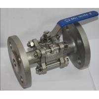 """Cheap Full Bore 1/2"""" SS304 3PC Flange Type Ball Valve , Blow Out Proof Stem for sale"""
