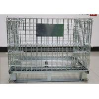 Cheap Wholesale collapsible stackable galvanized wire cage for warehouse for sale