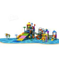 Cheap Outdoor Open Air Large Swimming Pool Slides Galvanized Steel Pipe Materials for sale
