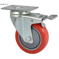 Cheap Extra Heavy Duty Industrial Polyurethane Caster Wheels Red Color For MIMA Forklift for sale
