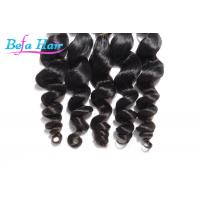 Cheap Grade 7A Natural Black Peruvian Loose Wave Virgin Hair Extensions 30 Inch for sale