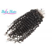 Cheap Deep Curl Malaysian Virgin Human Hair Closure With Baby Hair With Full Cuticle for sale