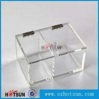 Cheap 2016 newest clear/plexiglass customised acrylic small boxes with lid for sale