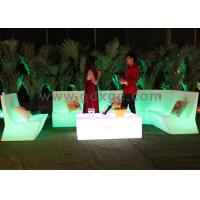 Remote Control Glowing LED Light Sofa With CE Rechargeable Bettery