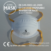 Cheap APAVE CE Certified Cup Non-Valve FFP2 Respirator Face Mask for sale