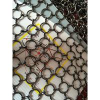 Cheap Metal Ring Wire Mesh Cabinet Panels 0.5-2m Width For Hotels , Villas for sale