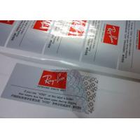 Silver Partial Security Printing Paper Material Water Based Sensitive Adhesive