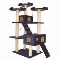Cheap Cat Tree for Scratching, Climbing, Sleeping and Exercising, Easy-to-assemble for sale
