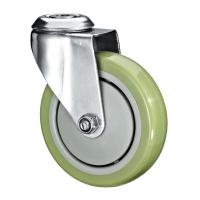 """Cheap 5""""X1-1/4 Customized PU Caster Wheel With Swivel Kingpin Fitting for sale"""