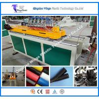 Cheap High Speed Plastic Extrusion Line PE PP PA Single Wall Corrugated Pipe Production Line Pipe Machine for sale