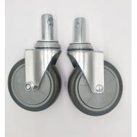 Cheap Carts 5 Inch Caster Wheels , Shelf Metal Food Service Equipment Casters for sale