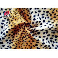 China Leopard Printed 144 F 100% Polyester Velvet Fabric Velboa Blanket 240 GSM Customized on sale