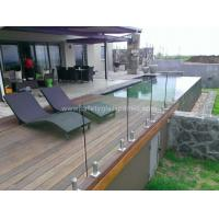 Cheap Transparent SGP Balustrade Glass Fence Panels , Heat Toughened Safety Glass for sale