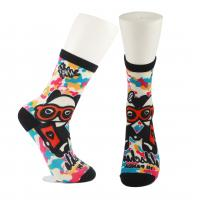 Quality Adults  OEM Service  Breathbale Eco-friendly Custom Made Size 3D-Printing Socks wholesale