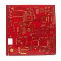 Cheap PCB Board with Red Solder Mask, 10 Layer PCB, 10mil Line Width and Spacing, ENIG Surface Treatment for sale