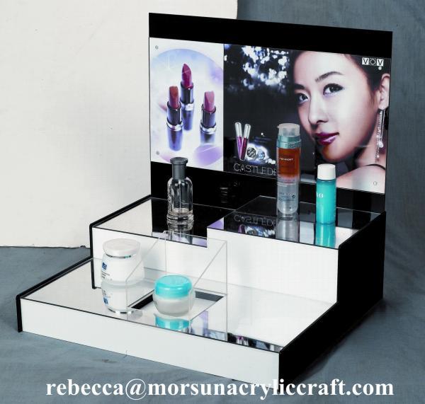 hochwertige tisch plexiglas display rack acryl kosmetische. Black Bedroom Furniture Sets. Home Design Ideas