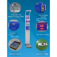 Cheap Coin operated medical height and weight scales with bmi analysis  and thermal printer  500kg for sale