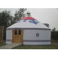 Cheap Luxury Waterproof Mongolian Yurt Tent Aluminum Frame Structural Heavy Duty wholesale