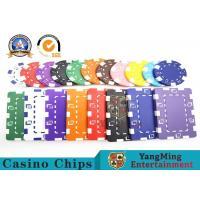 Cheap Customized 12g ABS Material Sticker Casino Poker Chips Jeton Yangming for sale