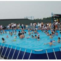 Cheap SGS 10M * 10M PVC Swimming Pool , Metal Frame Swimming Pool For Summer for sale