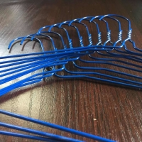 China 16inch 1.9mm Blue Color Wire Hanger For Dry Cleaners on sale