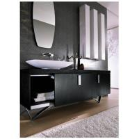 Cheap Spring Well Black Geometry Stainless steel italy style bathroom cabinet , SW-1162 for sale