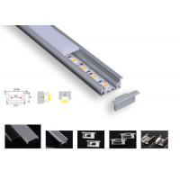 Cheap Strong Pc Led Aluminium Channel , Pcb 12.2mm Led Tape Channel For Floor Lighting for sale
