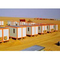 China Windbreak Storage Container Houses , Flat Pack Storage Container In Desert on sale