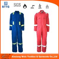 Buy cheap NFPA2112 88/12 cotton/nylo high tear resistant fire proof coverall for welding from wholesalers