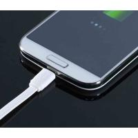 Cheap Flat Noodle TPE Micro Samsung Galaxy Charger Cable White For Data Transmission for sale
