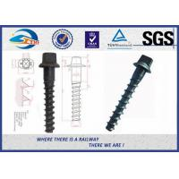 Cheap Ss8 Railway Spike Q235 Sleeper Screw Spike SGS standard ISO898-1 for sale