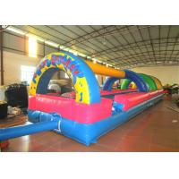 Cheap Inflatable the commercial rainbow water slide inflatable horizontal direction interesting wild splash on sale for sale