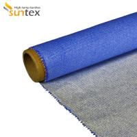 Cheap Heat Insulation Silicone Coated Fiberglass Fabric For Fire / Smoke Curtain for sale