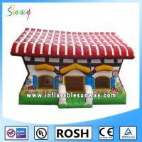 Cheap Popular 0.55mm PVC Obstacle Course Bounce House Theme Park Cool for sale