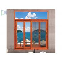 Cheap Heat Insulation Aluminium Sliding Windows Soundproof With Safety Flyscreen for sale
