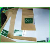 Cheap 100gsm + 15g Single PE Poly Coated White & Brown Kraft Paper Roll For Food Bags for sale