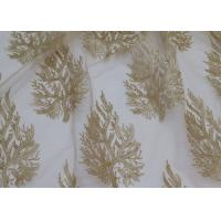 Cheap Embroidered Tree Gold Sequin Lace Fabric By The Yard For Wedding Bridal Evening Dress for sale