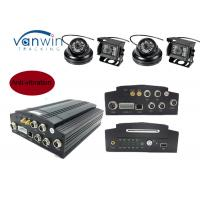 Cheap 4 Cameras Video 3G Mobile DVR Recorder / Vehicle Camera DVR Support 24 hours recording for sale