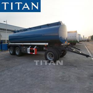 Cheap TITAN 2 Axles 30cbm Drawbar Monoblock Fuel Tank Full Trailer For Sale for sale