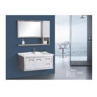 Cheap Stainless Steel Floating Bathroom Vanity With Drawers Two Doors Modern Style for sale