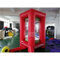 Cheap PVC Inflatable Cube Cash Money Catching Grab Machine Booth For Advertising for sale