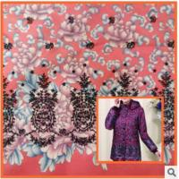 Cheap Middle-aged cotton jacket,Printed cotton fabric coat mother dress fabric peonies wholesale