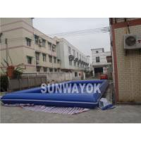 Cheap Blue Portable Inflatable Swimming Pools 0.9mm PVC for Water Ball for sale