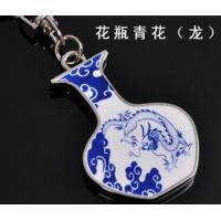 Cheap best promotional corporate gifts ideas Chinese ceramic keychains with gift box dragon for sale