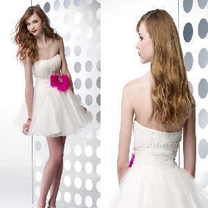 Cheap Strapless Organza Short Formal Evening Dress (AL20055) for sale