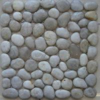 Cheap Polished Cobble Mosaics, Available in White Cobble Stone Color for sale