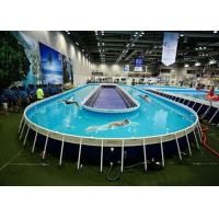 Cheap Funny Above Ground Metal Framed Swimming Pools / 10ft Steel Frame Swimming Pool for sale